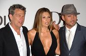 David Foster with Daisy Fuentes and Matt Goss at the
