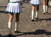 Drummer Girls Legs On City Day