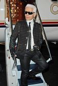 Karl Lagerfeld at the 2007/2008 Chanel Cruise Show Presented by Karl Lagerfeld. Hanger 8, Santa Moni