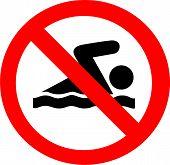 No Swimming Symbol