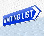 Waiting List Concept.