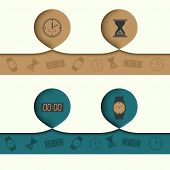 infographics abstract element with icons and diversified hours