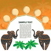 Africa. template design with a pair of elephants and area for text
