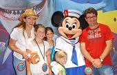 Sean Astin with Christine Astin and family at the Opening of Disneyland's