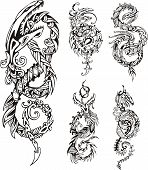 Stylized Dragon Knot Tattoos