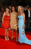 Nazanin Boniadi with Angel M. Wainwright and Amanda Baker at the 34th Annual Daytime Emmy Awards. Ko