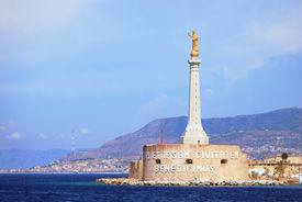 foto of messina  - Messina Port and the blessing of a golden Madonnina - JPG