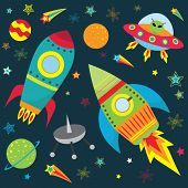 Outer Space Design Set - Illustration