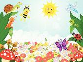 image of caterpillar cartoon  - vector illustration of Small animals cartoon  - JPG
