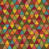 Abstract Background Of Triangles With Rounded Corners Bright Color Variations. Vector.