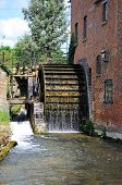 pic of water-mill  - The Old Mill along the river Eye Lower Slaughter Cotswolds Gloucestershire England UK Western Europe - JPG