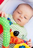 Baby Lying In Pram