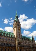 Town Hall In Town Square In Hamburg