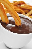 stock photo of churros  - churros con chocolate - JPG