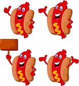 Cute hotdog cartoon
