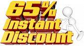Instant 65 Percent Discount