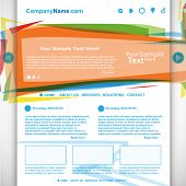 Website design colorful template, vector