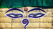 Buddha Eyes On Swayambhunath Stupa