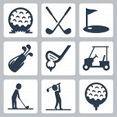 Golf Vector Icons Set