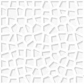 White Organic Triangulated Origami Pattern. Eps10