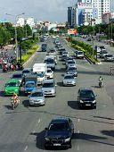 Group Of Car On Vietnam Street