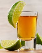 Tequila Shot With Lime