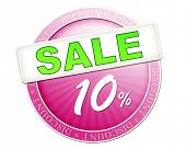 An image of a useful sale button 10%