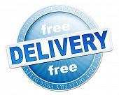 An image of a useful blue free delivery button