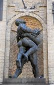 PARMA, ITALY - MAY 01,2014: Hercules and Hanteus. Parma is famous for its ham, cheese and architectu