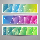 Set of Modern Vector Banners with Colorful Abstract Background