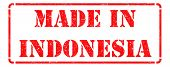 Made in Indonesia on Red Rubber Stamp.