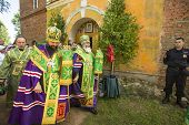 KRASNY BRONEVIK, RUSSIA - JULY 7, 2014: Celebrations commemorating the Rev. Anthony Dymsky (died 122