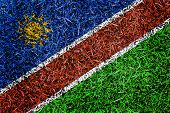 Namibia Flag Color Grass Texture Background