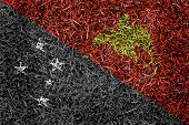 Papua New Guinea Flag Color Grass Texture Background
