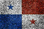 Panama Flag Color Grass Texture Background