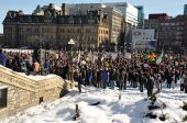 Protest of Harper's proroguing of Parliament, Ottawa, Jan 23, 2010