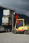 Forklift At Work
