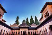 Alhambra Moorish Courtyard Lions Granada Andalusia Spain