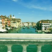 picture of the Grand Canal  in Venice, Italy, with a retro effect