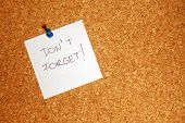 Reminder Message On Paper