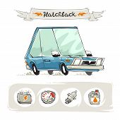 Retro Small Hatchback Set