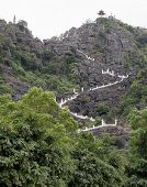 Stairs steps to Hang Mua view point in Tam Coc, Ninh Binh, Vietnam