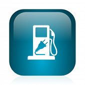 fuel blue glossy internet icon