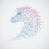 Geometric horse Line