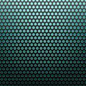 metal grid blue light background