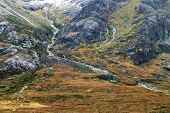 Alpine autumn landscape in Highlands, Scotland, United Kingdom