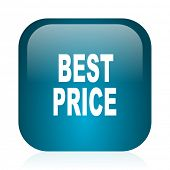 best price blue glossy internet icon