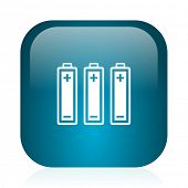 battery blue glossy internet icon