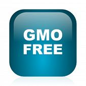 gmo free blue glossy internet icon