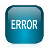 error blue glossy internet icon